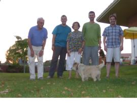 together with the fantastic Torrent family in Igualada: Ramon, Mark, Maria Merce, me, Arnau and their dog Pincho